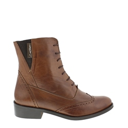 Carl Scarpa Ingrid Brandy Lace Up Brogue Ankle Boots