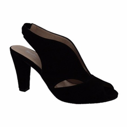 Carl Scarpa Delia Black High Heel Courts