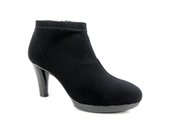 Carl Scarpa Black High Heel Ankle Boots - Linette