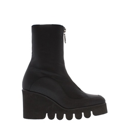 Carl Scarpa Marilyn Black Platform Wedge Mid-Calf Ankle Boots