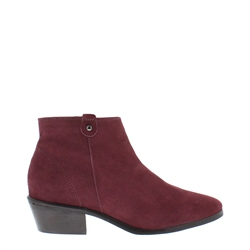 Carl Scarpa Serena Burgundy Suede Ankle Boots