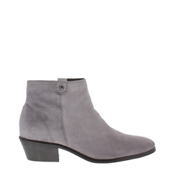 Carl Scarpa Grey Low Heel Suede Ankle Boots - Serena
