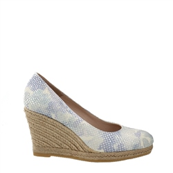 Carl Scarpa Vanetia Blue Floral Printed Wedge Espadrille Courts