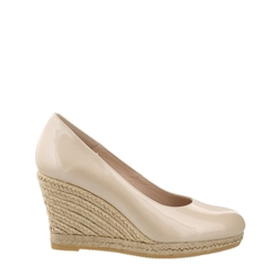Carl Scarpa Vanetia Nude Slip-On Wedge Espadrille Court Shoes