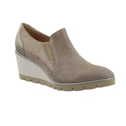 Carl Scarpa Taupe Wedge Slip-On Loafers - Pavita