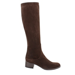 Carl Scarpa Eliza Brown Mid Heel Knee Boots