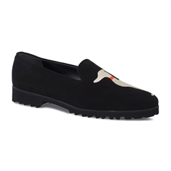 Carl Scarpa Black Slip-On Whippet Loafers - Florentina