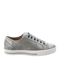 Carl Scarpa Carlotta Chrome Lace Up Trainers