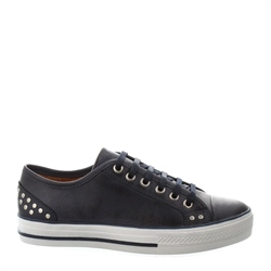 Carl Scarpa Carlotta Navy Lace Up Trainers
