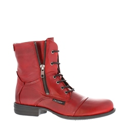 Pilar Red Ankle Boots