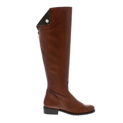Carl Scarpa Tan Flat Knee Boots - Arabella
