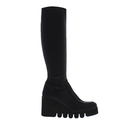 Carl Scarpa Andreen Black Wedge Knee Boots