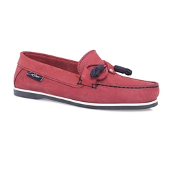 Carl Scarpa Red Slip-On Tassel Loafers - Catalina