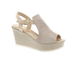 Carl Scarpa Imogen  Taupe Suede  Sandals