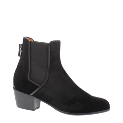 Claudia Black Low Heel Chelsea Ankle Boots