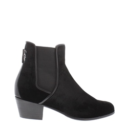 Carl Scarpa Claudia Black Low Heel Chelsea Ankle Boots