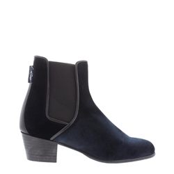 Carl Scarpa Navy Low Heel Chelsea Ankle Boots - Claudia