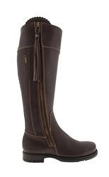 Carl Scarpa Natasha Brown Waterproof Country Boots - Slim Fit