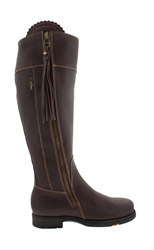 Carl Scarpa Natasha Brown Waterproof Country Boots - Standard Fit