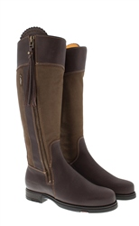 Natasha Brown/Khaki Water-Resistant Country Boots - Standard Fit