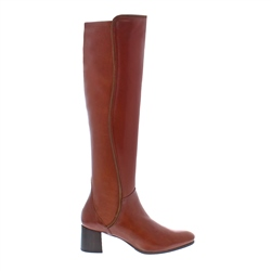 32821fc733e Carl Scarpa Cognac Mid Heel Knee Boots - Ella