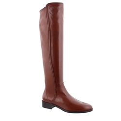 Emma Tan Leather Knee-High Boots