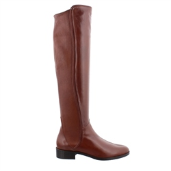Carl Scarpa Emma Tan Leather Knee-High Boots