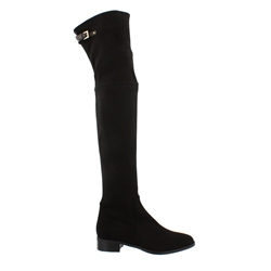 Carl Scarpa Black Flat Over-The-Knee Boots - Montana