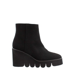 Carl Scarpa Alena Black Wedge Ankle Boots