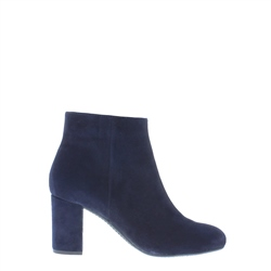 Carl Scarpa Navy Mid Heel Ankle Boots - Antonia