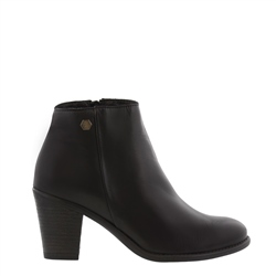 Carl Scarpa Indiana Black Mid Heel Ankle Boots