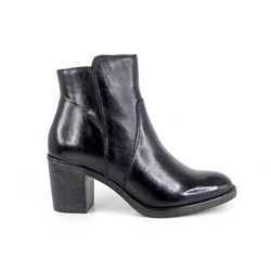 Carl Scarpa Black Mid Heel Ankle Boots - Jaquelin