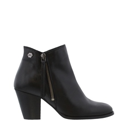 Carl Scarpa Black Mid Heel Ankle Boots - Laura