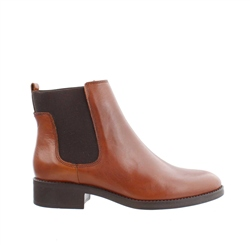 Carl Scarpa Tan Flat Chelsea Ankle Boots - Sabine