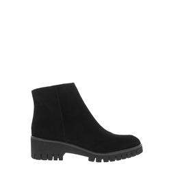 Carl Scarpa Safira Black Wedge Ankle Boots