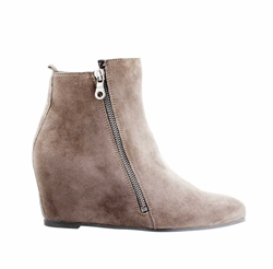 Carl Scarpa Grey Wedge Ankle Boots - Tiffany