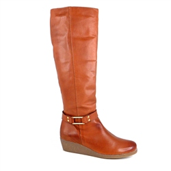 Carl Scarpa Brandy Wedge Knee Boots - Lucinda