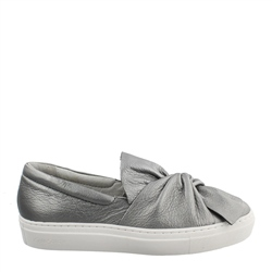 Carl Scarpa Ellie Chrome Slip-On Trainers