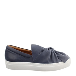 Carl Scarpa Ellie Navy Slip-On Trainers