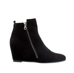 Carl Scarpa Black Wedge Ankle Boots - Tiffany