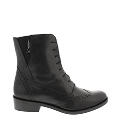 Carl Scarpa Ingrid Black Lace Up Brogue Ankle Boots