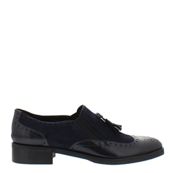 Carl Scarpa Navy Slip-On Brogue Tassel Loafers - Otavia