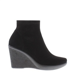 Carl Scarpa Black Wedge Ankle Boots - Lisca