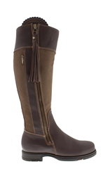 Carl Scarpa Luxe Fit Brown/Khaki Waterproof Country Knee Boots - Natasha