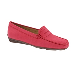 Carl Scarpa Red Slip-On Loafers - Bettina