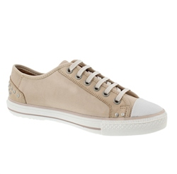 Carl Scarpa Cream Lace Up Leisure Shoes - Carina