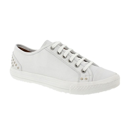 Carl Scarpa White Lace Up Leisure Shoes - Carina