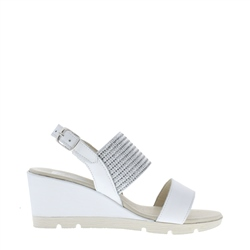 Carl Scarpa Cynthia White Sandals