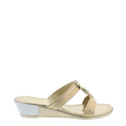 Carl Scarpa Lysander Gold Sandals