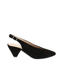 Carl Scarpa Dolce Black Suede Courts